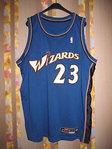 RARE NBA NIKE WASHINGTON WIZARDS #23 MICHAEL JORDAN AUTHENTIC JERSEY SIZE 52