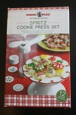 Nordic Ware International Spritz COOKIE PRESS SET (( 'used once' )) Nordicware
