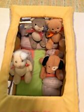 AMERICAN GIRL BITTY BABY BUNCH BUS WITH CAT, DOG, BEAR, BUNNY AND ACCESSORIES