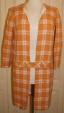 Vintage 60's Peach & Pink Plaid Coat sz 7