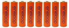 "8 Pack Panasonic Eneloop AA NiMH Pre-Charged Rechargeable Batteries"" Orange"""