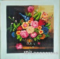 """New Completed finished Cross stitch""""Classical flowers vase""""home decor gifts"""