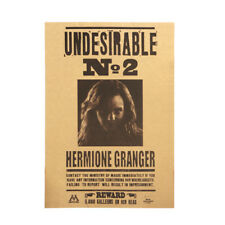 Harry Potter Undesirable No 2 Hermione Jane Granger Retro Kraft Paper Poster