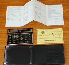 Rare Vintage Royal Solar Pocket Calculator Case Instructions