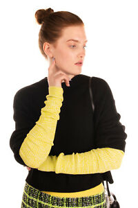 N 21 Wrist Warmers One Size Melange Effect Elasticated Ribbed Knit Made in Italy