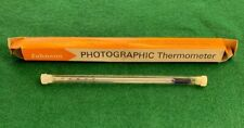 Vintage Johnson Photographic Thermometer With Holder & Original Box-England-Rare