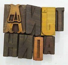 Letterpress Letter Wood Type Printers Block Lot Of 8 Typography Eb 218