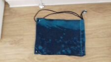 BNWT BLUE DENIM GLITTER EFFECT DRAWSTRING BAG FOR GIRLS FROM CLAIRES ACCESSORIES