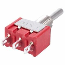 5 x Mini Momentary (On)Off(On) Toggle Switch Model Railway SPDT 12V,silver V6G4