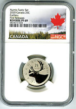 2020 CANADA 25 CENT NGC PF69 NUMIS-TASTIC REVERSE PROOF QUARTER FIRST RELEASES