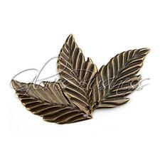 20Pcs Alloy Metal Charms Filigree Leaf Shape Wrap Connector Antique Brass Tone