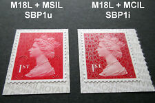 NEW OCT 2018 SBP1 VARIANT 1st Class M18L + MSIL and MCIL MACHIN SINGLE STAMPS
