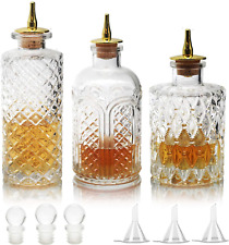 More details for suprobarware bitters bottle for cocktails - glass dasher bottles with dash tops,