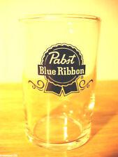 Pabst beer glass Blue Ribbon pub bar drink glasses 1 6 ounce vintage New nos PBR