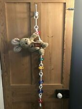 White Plastic Chain with Clips - Soft Toy Storage - White Plastic Display Chain