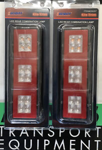 LUCIDITY 2x GloTrac LED Stop/Tail/Indicator Lamp 12/24V 26057ARR 4WD/Tray/Truck