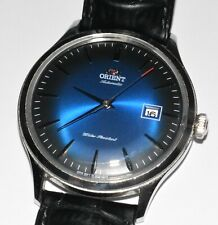 Men's Orient Bambino Version 4 Classic Watch 42mm Automatic Blue Face! AC08-C0-A