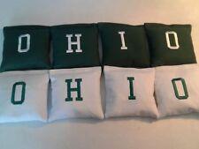 Ohio Hunter and White Cornhole Bags Regulation made set of 8 tailgate gear