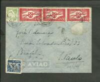 PORTUGAL TO BRAZIL 1940, AIR MAIL COVER, A STAMP IS MISSING, NICE!
