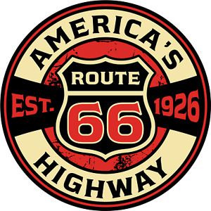 Route 66 American Country Road Traveller Travelling Hippy Hobo Unisex USA Tshirt