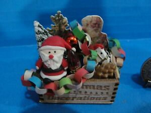 Dollhouse Christmas crate with Dreamsicies angel ornament plus accessories #2