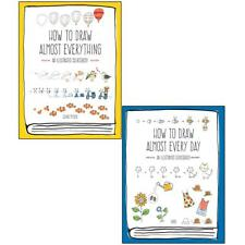 How to Draw Almost Everything Every Day Illustrated 2 Books Collection Set