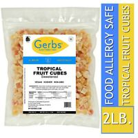 Tropical Fruit Mix Cubed, 2 LBS Food Allergy Safe, Unsulfured & Non GMO by Gerbs