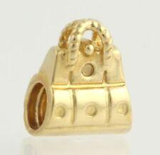 NEW Chamilia LD-28 Bead Charm - 14k Yellow Gold Purse Handbag