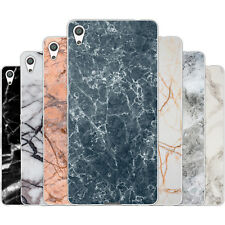 Dessana Marble Pattern TPU Silicone Protective Case Pouch Cover For sony