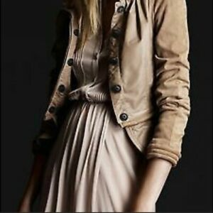 Burberry Prorsum Leather and Suede Peplum Jacket