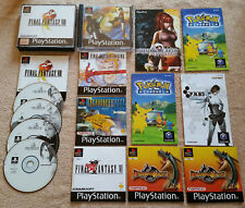 final fantasy + destrega +  9 booklets . ps1 game cube ps2 ... langage German