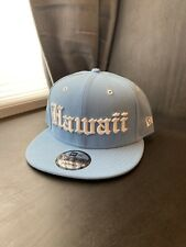 808 Allday Hawaii OE New Era Snapback Fmhi Fitted Hawaii Baby Blue Sold Out