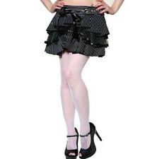 Living Dead Souls Gothic Pinstripe Black & White Striped Skirt XL/Goth/X-Large
