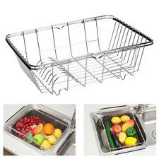 Kitchen Drying Dish Drainer Rack In Sink Basket Holder Organizer Stainless Steel