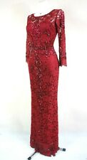 PHASE EIGHT BNWOT Red Lace Beaded Wedding Evening Maxi Dress Size 10