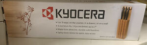 Kyocera Bamboo Knife Block. 3 Slot Block, Safely Stores Knives.