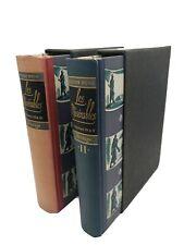 Victor Hugo LES MISERABLES 2 Volume Set Heritage Press Slipcases w/ Sandglass