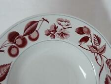 "Ridgway Bountiful Red Pattern Rim Soup Bowl 9"" Staffordshire England"