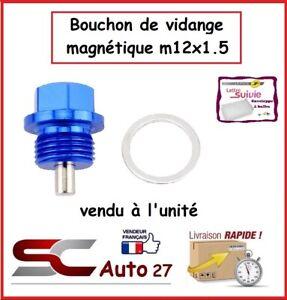 bouchon de vidange magnétique  bleu auto/moto  M12x1.5