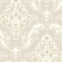 A10904 Luxus Königlich Damast Stoff Grau Silber Glitzer Grandeco Tapete