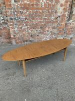 LARGE CONTEMPORARY MODERN SHAPED OVAL COFFEE TABLE WITH SHELF - COFFEE TABLE