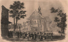 Kohawiny Church, in Galicia. Poland 1836 old antique vintage print picture