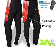 Cycling Tights Coolmax® Padded Bike Trouser Legging Pants Sublimated Compression