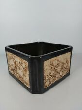More details for a bretby art pottery carved bamboo ware a planter no.2042,  11cm tall