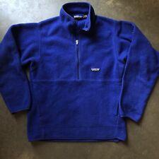 Men's Vintage 90s Patagonia Synchilla Fleece Half Zip Blue Marsupial Jacket Sz S