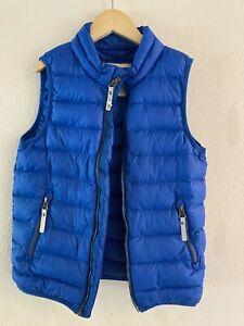 Hanna Andersson Boys 130 Packable Down Vest Blue