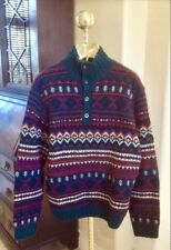 5f38a3453 RALPH LAUREN POLO LTD Hand Knit Sweater Southwest Winter Wool Indian  Blanket XL