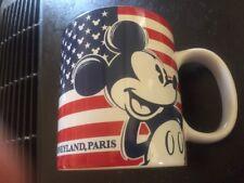 Disney Parks Mickey's Red White Blue Stars And Stripes Coffee 16oz Mug