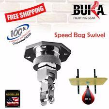 BUKA GEARS  Silver Pro Bearing Steel Swivel Speed Ball Boxing MMA Punching Bag
