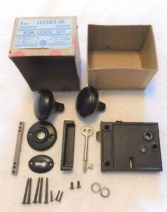 Antique Vintage Door Knob Handle  Lock Set New Old Stock Hardware
